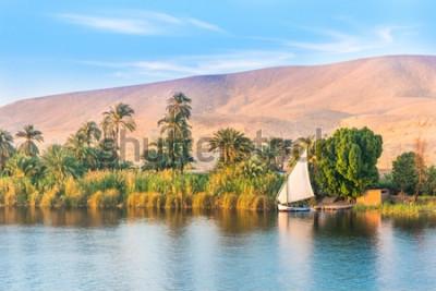 Fototapete Nil in Ägypten. Luxor, Afrika.