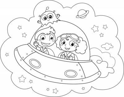 Fototapete Nizza Space Shuttle von Kindern erprobt