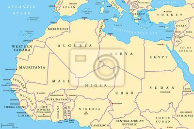Stumme Karte Afrika.Karte Nordafrika Onlinebieb