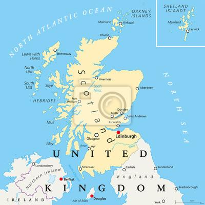 Irland Karte Städte.Fototapete Nordirland Politische Karte Mit Dem Kapital Belfast Nationale