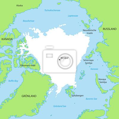 nordpol karte Nordpol   karte in grün fototapete • fototapeten spitsbergen