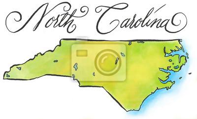 North Carolina Karte