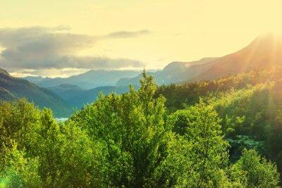 Fototapete Norwegen Berge