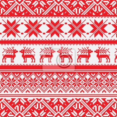 Norwegen Weihnachten nahtlose Vektor Hintergrund, Eps 8 Bild