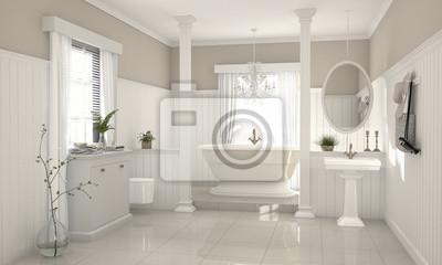 Fototapete Nostalgisches Modernes Badezimmer Im Country Style
