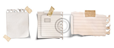Fototapete note paper blank sign tag label