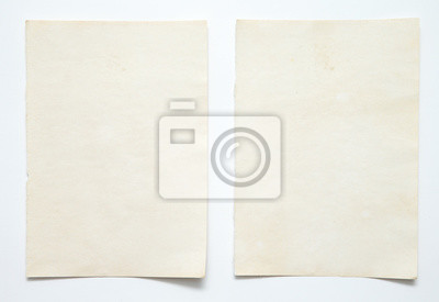 Fototapete note paper on white background