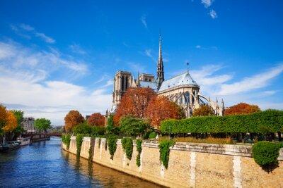 Fototapete Notre Dame de Paris entlang der Seine