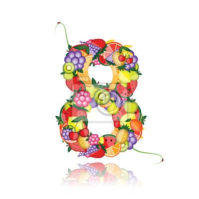 Nummer acht hergestellt aus Früchten. Sehen Sie andere in meiner Galerie