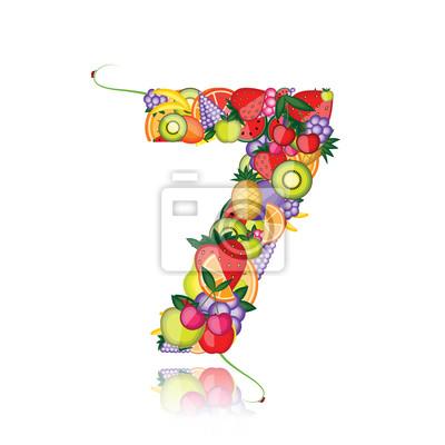 Nummer sieben gemacht aus Früchten. Sehen Sie andere in meiner Galerie