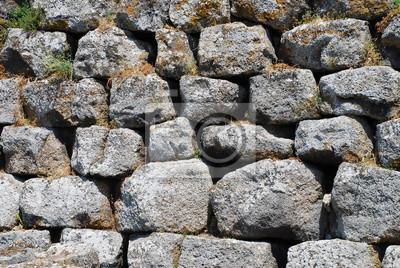 Fototapete: Nuraghe sardinien basalt mauer stein steine wand mauerwerk  hintergrund