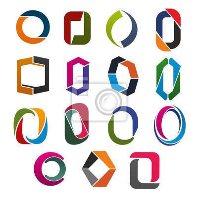 O-Brief-Symbol der abstrakten Corporate Identity Schriftart