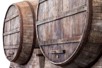 Fototapete Oak barrels in a winery, brewery or distillery