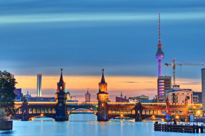 Fototapete Oberbaumbrücke Berlin
