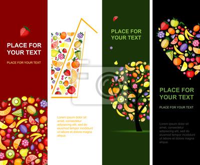 Obst Banner vertikal für Ihr Design