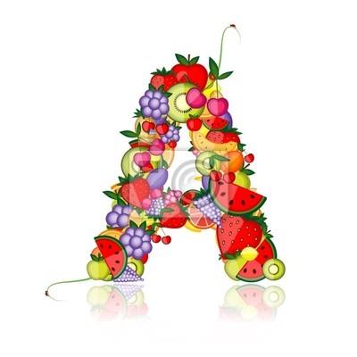Obst-Brief für Ihr Design.