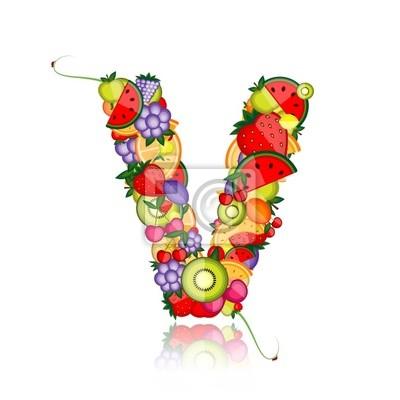 Obst-Brief für Ihr Design. Sehen Sie andere in meiner Galerie