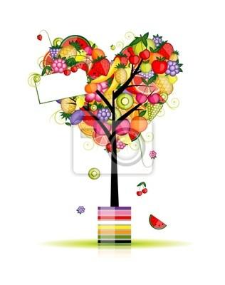 Obstbaum in Form von Herzen für Ihr Design