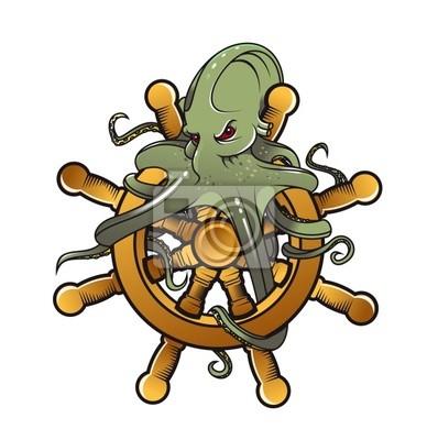 Octopus am Lenkrad
