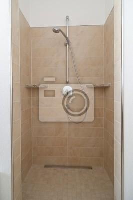 Fototapete: Offene dusche im badezimmer