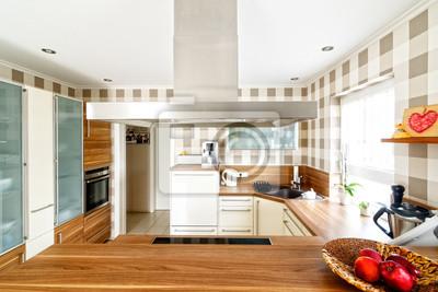 AuBergewohnlich Fototapete Offene Küche Mit Essbereich