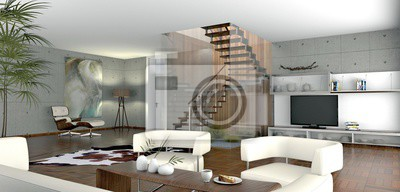 Fototapete: Offenes wohnzimmer