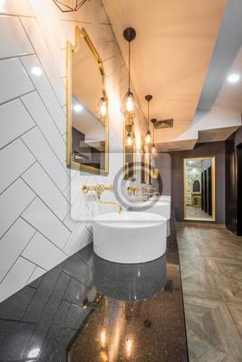 Öffentliche toilette im modernen hotel interieur fototapete ...