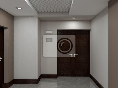 Öffentliches interieur 3d-rendering fototapete • fototapeten ...
