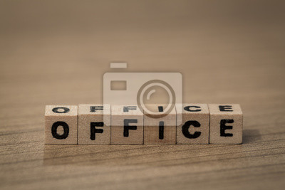 Office in wooden cubes