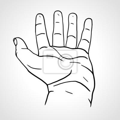 Öffnen Sie leeren Hand isoliert auf weiß