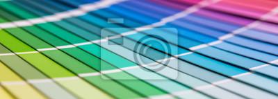 Fototapete Öffnen Sie Pantone Beispielfarbenkatalog.