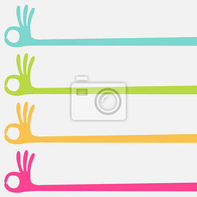 ok Hand multicolor