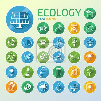 Ökologie-Icon-Set