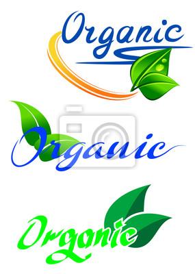 Ökologie und Natur-Embleme