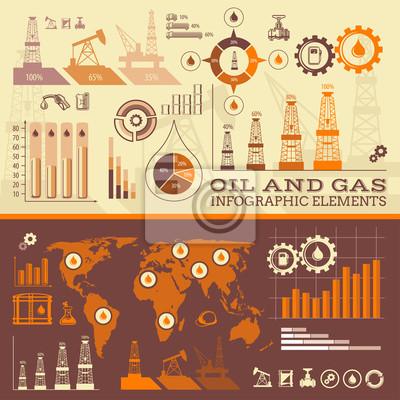 Öl und Gas Infografik