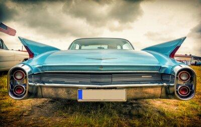 Fototapete Old american car im Vintage-Stil