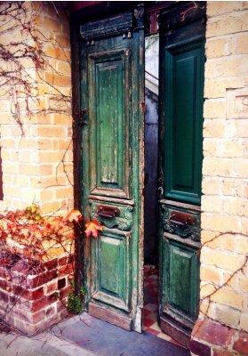 Fototapete old door open