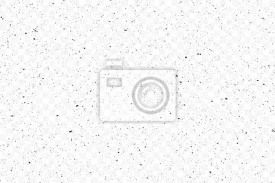 Fototapete Old grunge black texture. Dark weathered overlay pattern sample on transparent background. Screen background. Vector.