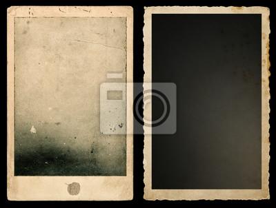 Fototapete Old paper photo frames Used vintage cardboard