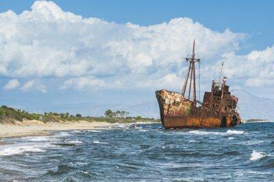 Fototapete Old rustic big ship