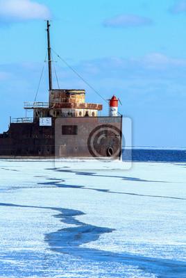 Old Ship Frozen Lake Ontario