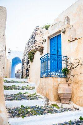 Fototapete Old street in Pyrgos village