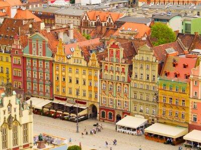 Fototapete Old town square, Warsaw, Poland