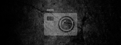 Fototapete Old wall texture cement dark black gray  background abstract grey color design are light with white gradient background.