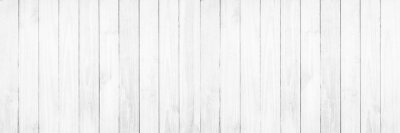 Fototapete Old white wood texture background.