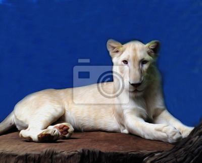 Ölgemälde Löwe / Fotoeffekt Ölgemälde