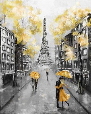 Olmalerei Paris Europaischen Stadtlandschaft Frankreich Tapete