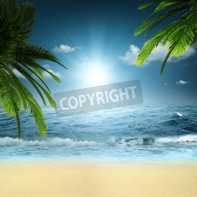 Fototapete On the ocean. Abstract natural backgrounds for your design