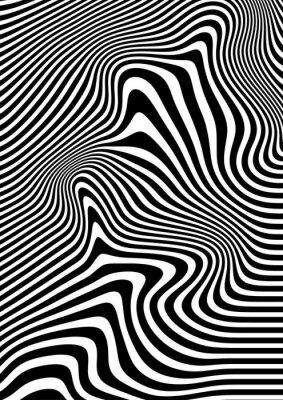 Fototapete Op Art abstrakte geometrische Muster Schwarz-Weiß -Vektor-Illustration c8fc85b5d0
