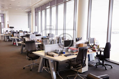 Open plan office interior without people fototapete • fototapeten ...